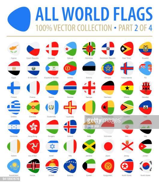 welt-flaggen - vektor abstrakte flach-icons - teil 2 von 4 - flagge von georgien stock-grafiken, -clipart, -cartoons und -symbole