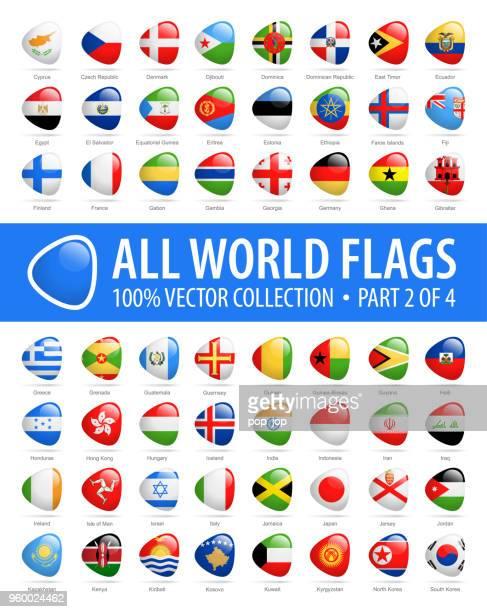 welt-flaggen - vektor abstrakt hochglanz-icons - teil 2 von 4 - flagge von georgien stock-grafiken, -clipart, -cartoons und -symbole