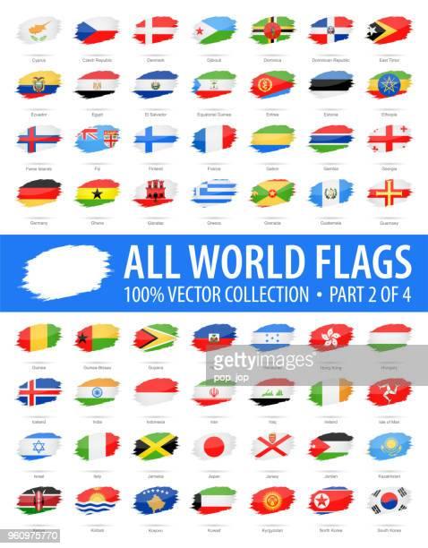 welt-flaggen - vektor-pinsel-grunge glänzend icons - teil 2 von 4 - flagge von georgien stock-grafiken, -clipart, -cartoons und -symbole