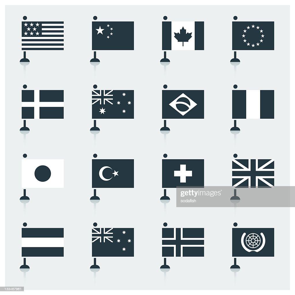 World Flags : stock illustration