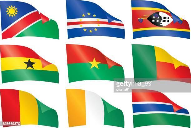 Welt-Flaggen.