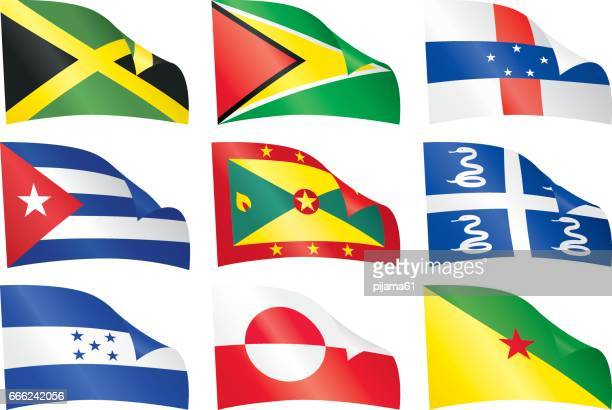 world flags. - martinique stock illustrations