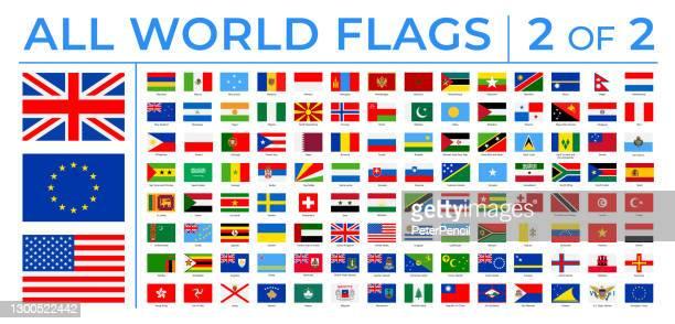ワールド フラグ - ベクトル矩形フラット アイコン - パート 2/2 - セルビア点のイラスト素材/クリップアート素材/マンガ素材/アイコン素材