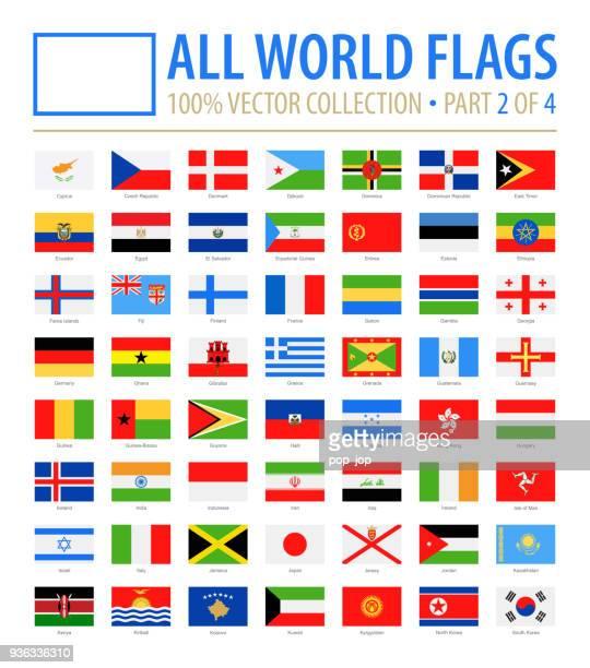 welt-flaggen - vektor rechteck flach-icons - teil 2 von 4 - flagge von georgien stock-grafiken, -clipart, -cartoons und -symbole