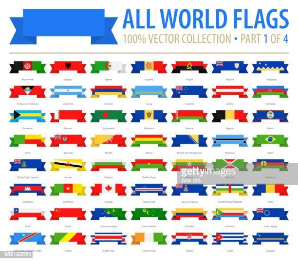 ilustraciones, imágenes clip art, dibujos animados e iconos de stock de mundo banderas - vectores cinta plana iconos - parte 1 de 4 - bandera argentina