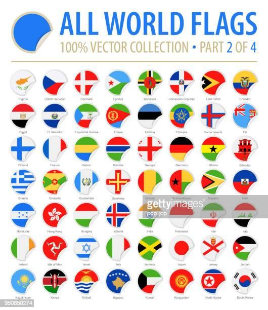welt-flaggen - vector runden ecke flach icons - teil 2 von 4 - flagge von georgien stock-grafiken, -clipart, -cartoons und -symbole