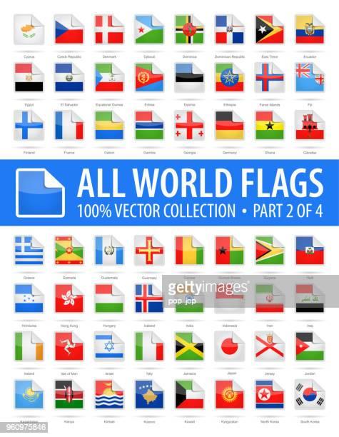 welt-flaggen - vektor gerundet quadratischen ecke glänzend icons - teil 2 von 4 - flagge von georgien stock-grafiken, -clipart, -cartoons und -symbole