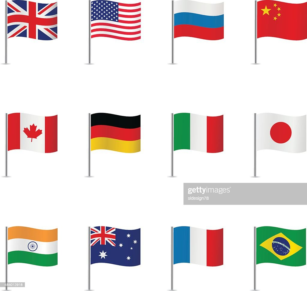 World flags. Vector set.
