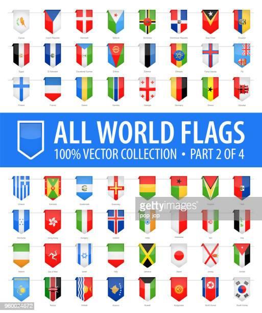 welt-flaggen - vektor senkrecht lesezeichen glänzende symbole - teil 2 von 4 - flagge von georgien stock-grafiken, -clipart, -cartoons und -symbole