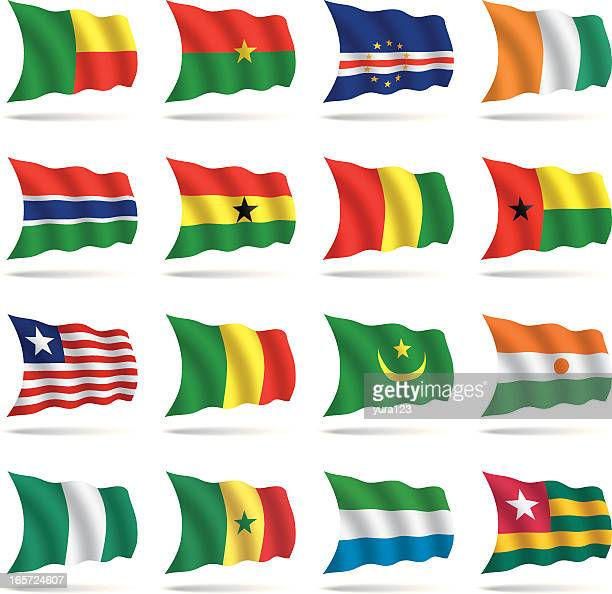 world flags waving - ghana stock illustrations, clip art, cartoons, & icons