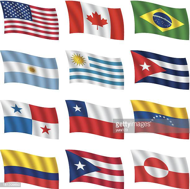world flags waving - central america stock illustrations, clip art, cartoons, & icons