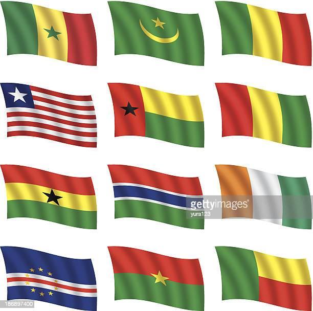 world flags waving - liberia stock illustrations, clip art, cartoons, & icons