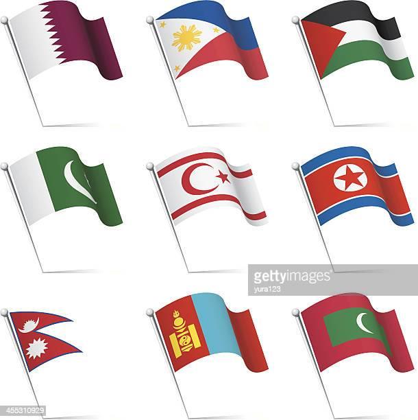 ilustrações, clipart, desenhos animados e ícones de mundial bandeiras rapaz - qatar