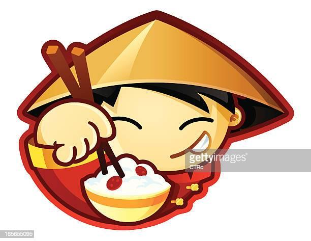 world food characters china - chopsticks stock illustrations, clip art, cartoons, & icons