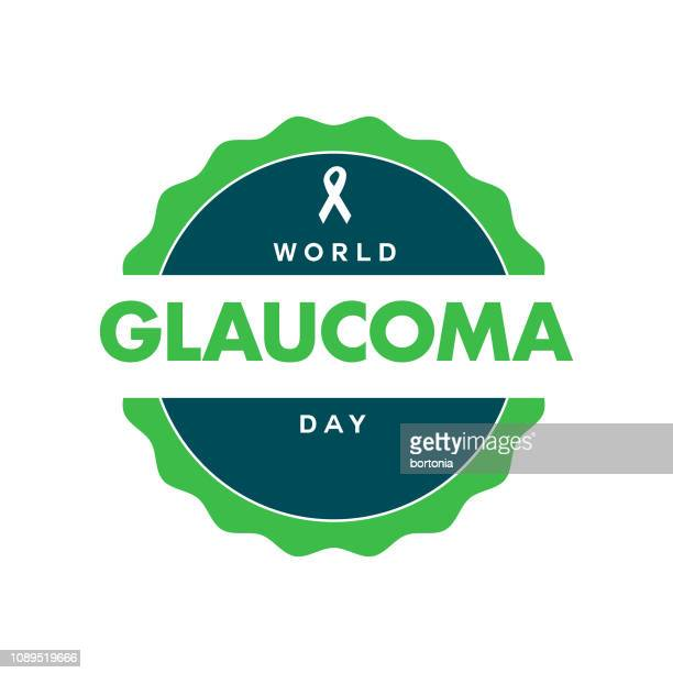 world glaucoma day label - glaucoma stock illustrations, clip art, cartoons, & icons