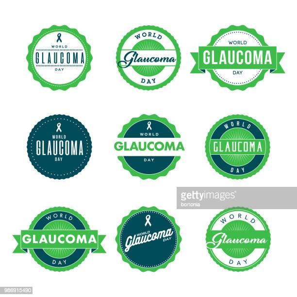 world glaucoma week icon set - glaucoma stock illustrations, clip art, cartoons, & icons