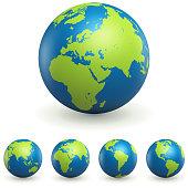 World Globe 3D Signs Set