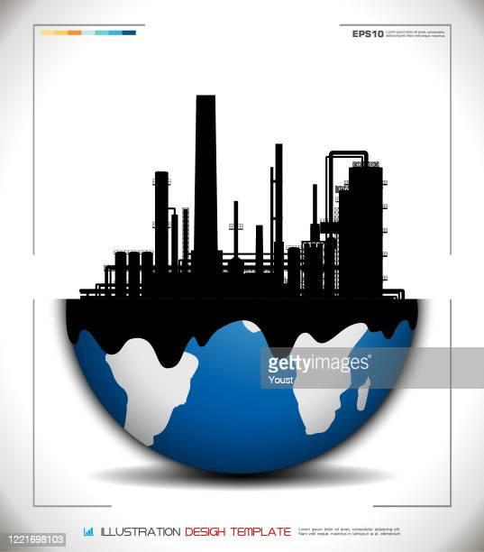 ilustraciones, imágenes clip art, dibujos animados e iconos de stock de world globe factory - corteza terrestre