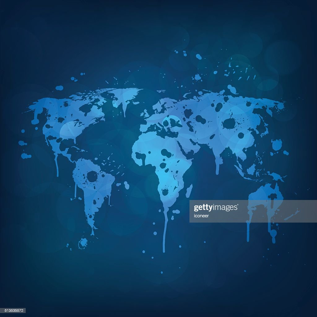World graffiti map in blue on bubbles background vector art getty world graffiti map in blue on bubbles background vector art gumiabroncs Choice Image