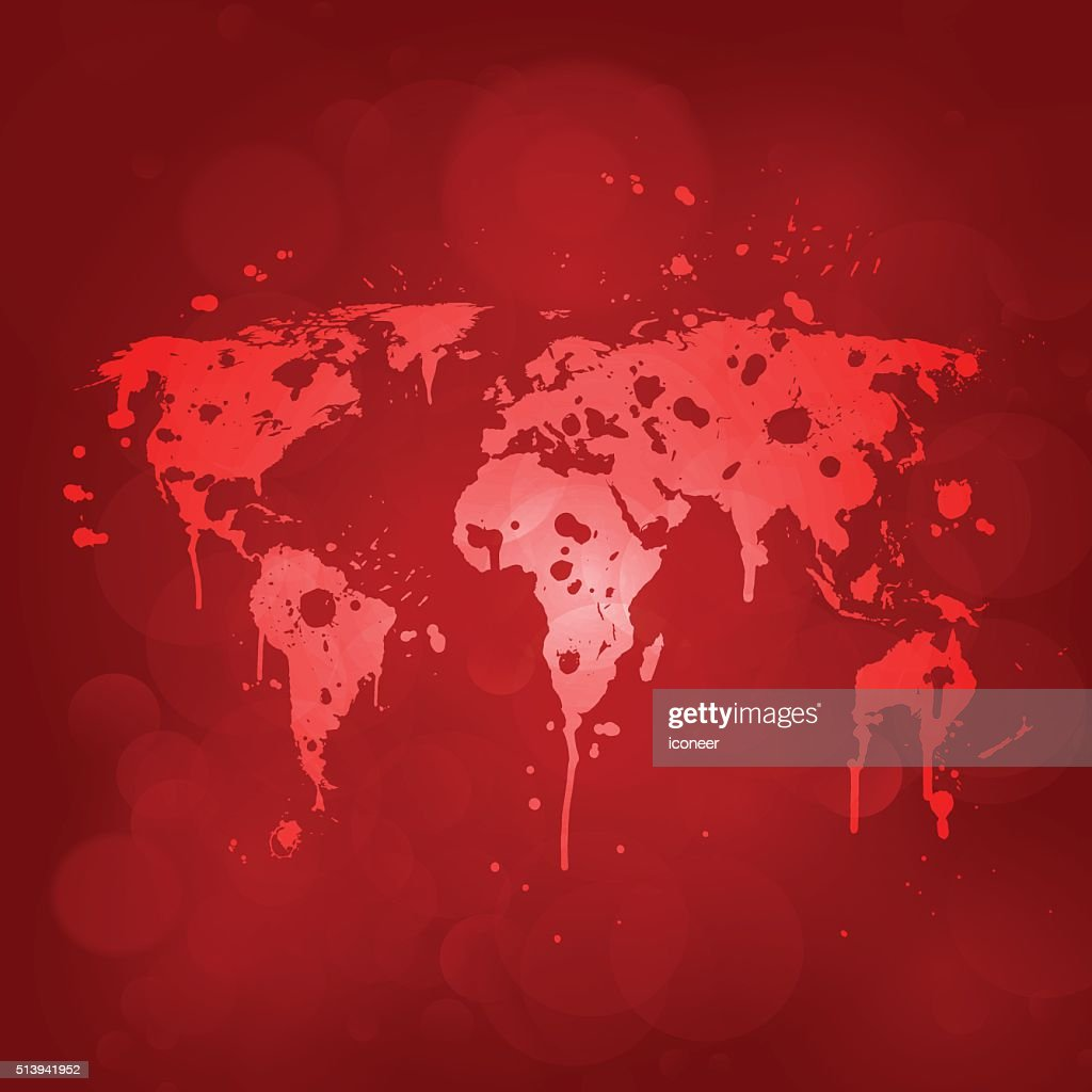 World graffiti map on red background vector art getty images world graffiti map on red background vector art gumiabroncs Choice Image