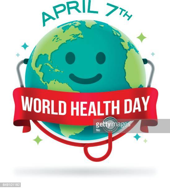 world health day - day stock illustrations, clip art, cartoons, & icons