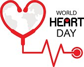 World Heart Day icon design.