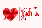World Hemophilia Day - red paper cut blood heart