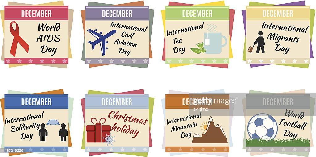 World holidays. December