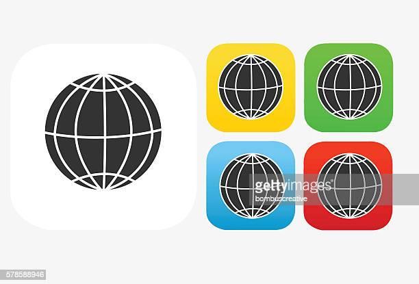 World Icon Flat Graphic Design