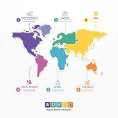 World Infographic Template jigsaw concept banner.