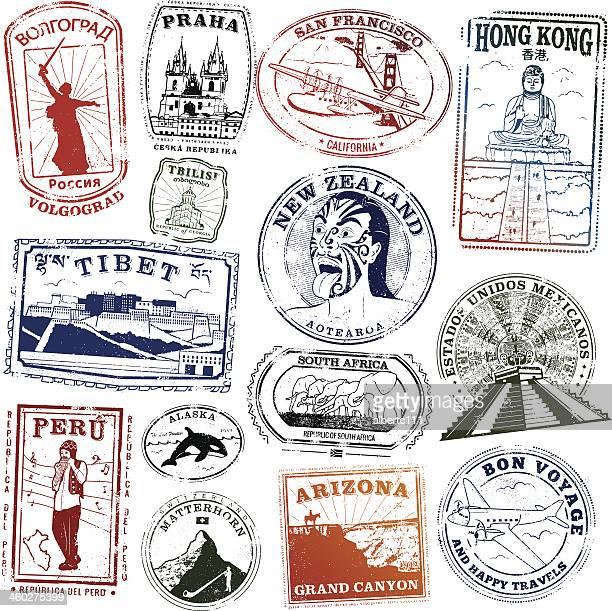 ilustrações, clipart, desenhos animados e ícones de marco selos mundo - geórgia sul dos estados unidos