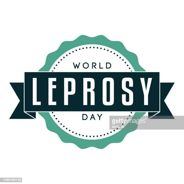 world leprosy day label - leprosy stock illustrations