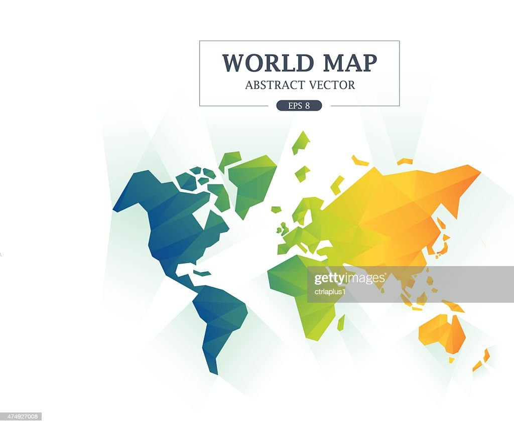 World Map Abstract Full Color