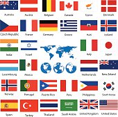 Free indian flag clipart and vector graphics clipart world map and flags gumiabroncs Image collections