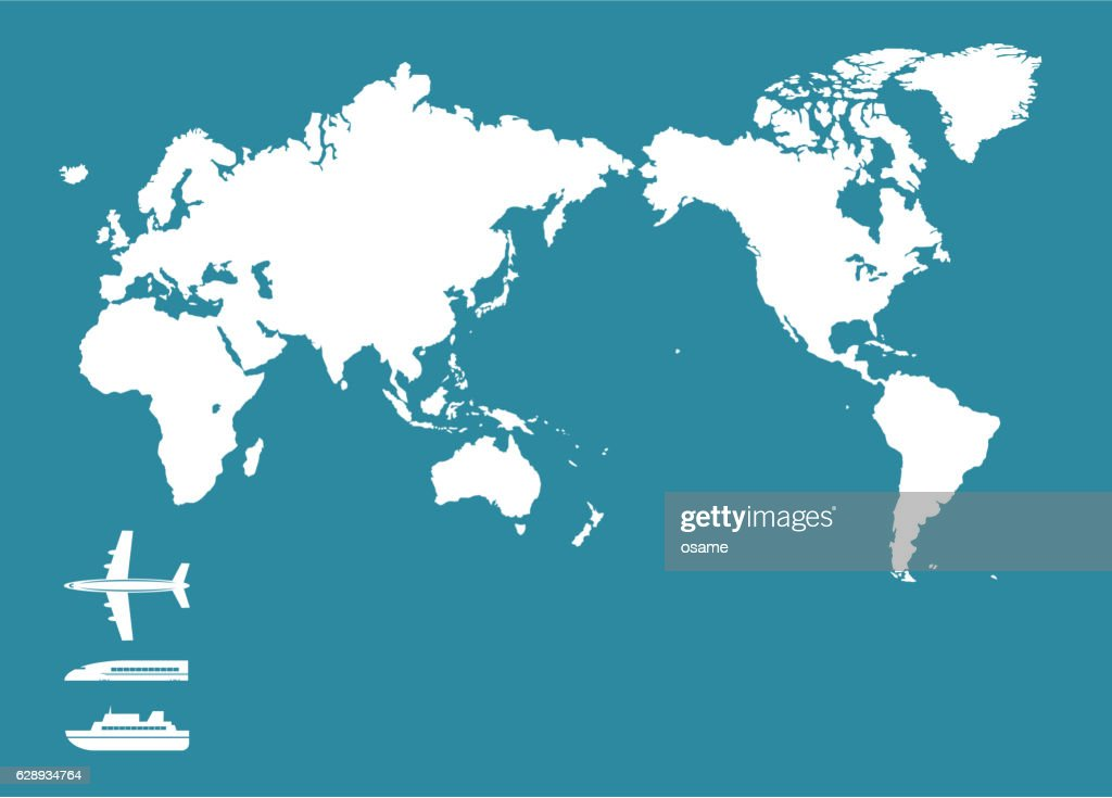 World map and traffic icon