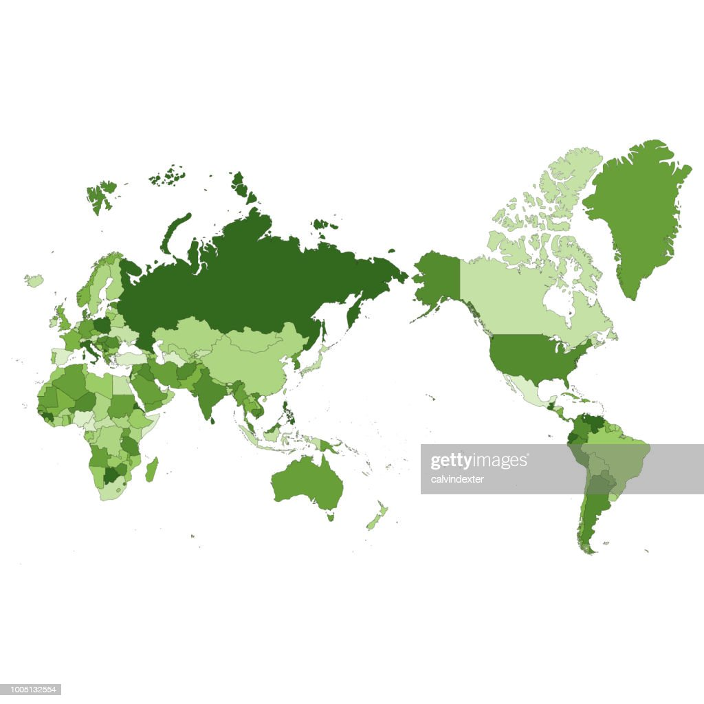 World Map Asia Centered.World Map Asia Centered Vector Art Getty Images