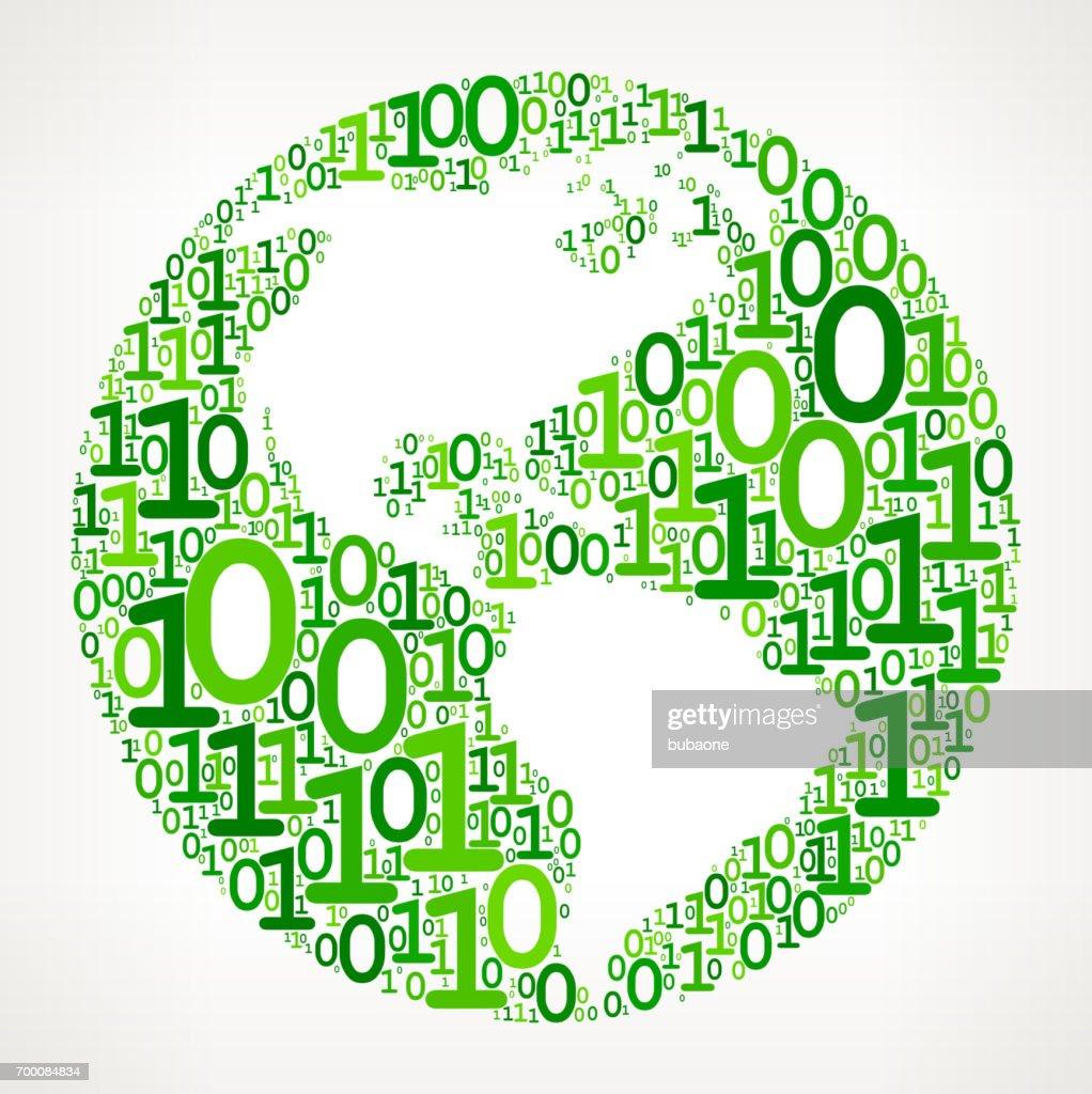 World map binary code zero one vector illustration vector art world map binary code zero one vector illustration vector art gumiabroncs Image collections
