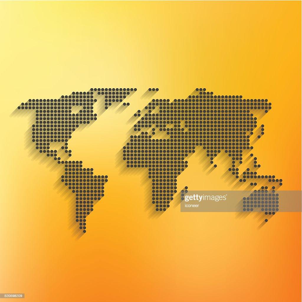 World map black made of dots on orange background vector art getty world map black made of dots on orange background vector art gumiabroncs Gallery
