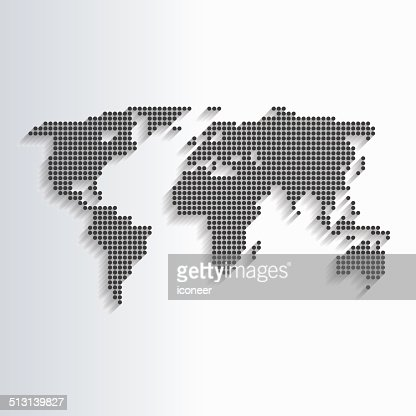 World map black made of dots vector art getty images gumiabroncs Gallery
