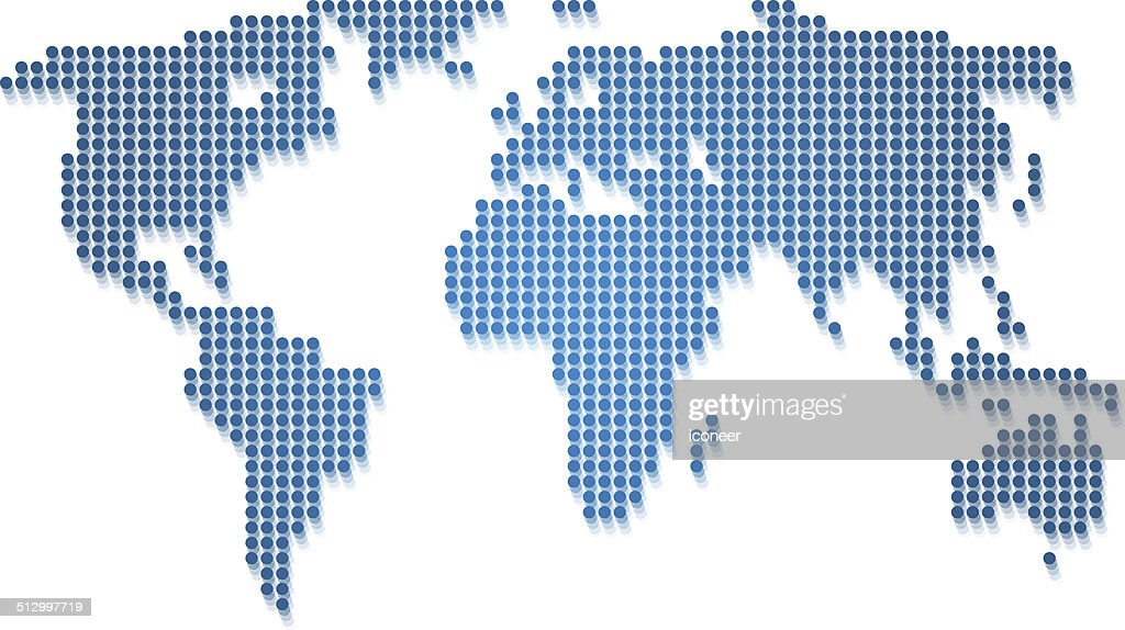 World map blue made of dots vector art getty images world map blue made of dots vector art gumiabroncs Choice Image