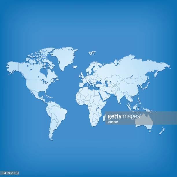 Weltkarte-Blau auf marine Hintergrund Raster