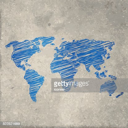 World map sketched on dark chalkboard background vector art getty keywords gumiabroncs Gallery