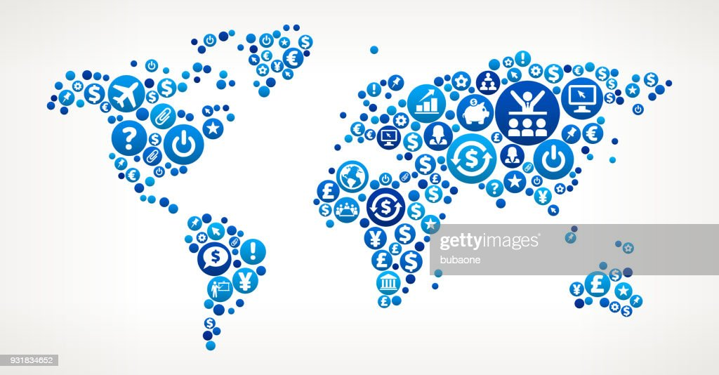 World map business and finance vector icon pattern vector art world map business and finance vector icon pattern vector art gumiabroncs Images