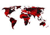 World map camouflage