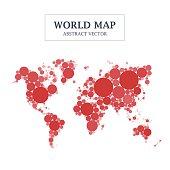 World Map Circle and Dot Design