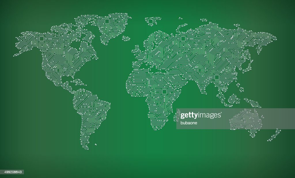 World map circuit board royalty free vector art background vector world map circuit board royalty free vector art background vector art gumiabroncs Images