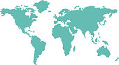 World map countries geography vector.