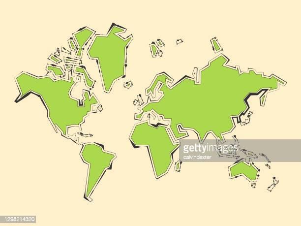 世界地図デザイン - オーストラレーシア点のイラスト素材/クリップアート素材/マンガ素材/アイコン素材
