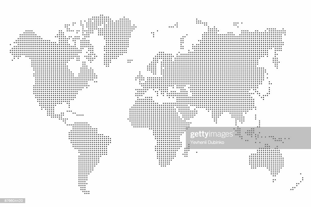 World map dot. Abstract world map background