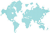 world map dotted vector